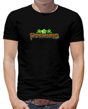 camiseta negra pentaurus hombre